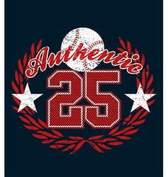 Baseball authentic jersey distressed print vector image vector image