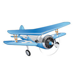 biplane vector image vector image
