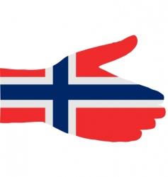 Norwegian handshake vector image vector image