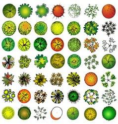 a set treetop symbols vector image