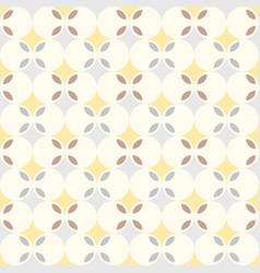 Abstract retro geometric seamless pattern vector