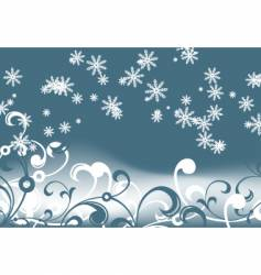 Abstract winter vector