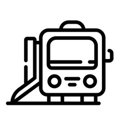 Accessible metro train icon outline style vector