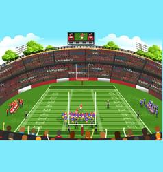 cartoon football stadium vector images over 3 500 vectorstock