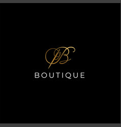 B letter boutique logo design - luxury boutique vector