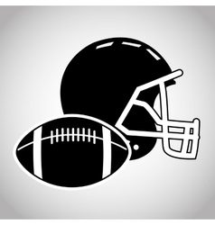 Ball and helmet of american football design vector