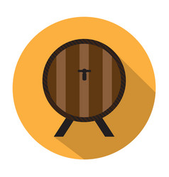 beer barrel icon vector image