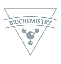 Biochemistry logo simple gray style vector
