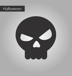 black and white style icon halloween emotion skull vector image