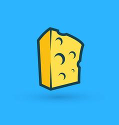 block piece of cheese premium quality vector image