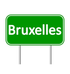 Bruxelles road sign vector image