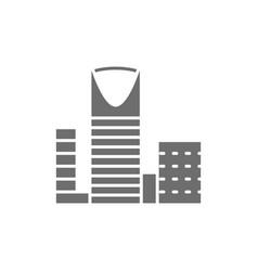 burj al-mamlyak kingdom center skyscraper gray vector image