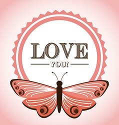 butterfly card vector image