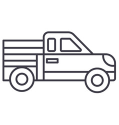 car pickup line icon sign on vector image