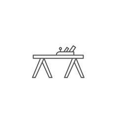 Carpenters plane icon in linear style vector