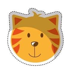 cat head mascot isolated icon vector image