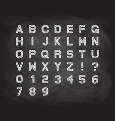 chalk font over blackboard vector image