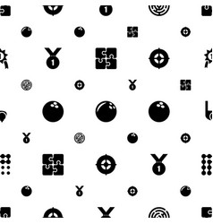 Challenge icons pattern seamless white background vector