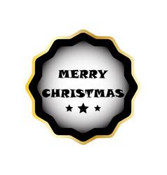 christmas badge image vector image