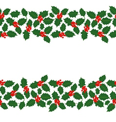 Christmas holly banners vector