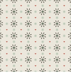 Clean Simple Black Floral Graphic Seamless Pattern vector image