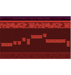 collection stockm wall game background style vector image