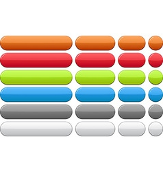 Color blank buttons vector