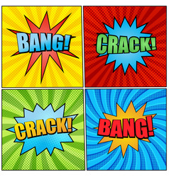 comic book pages bright collection vector image