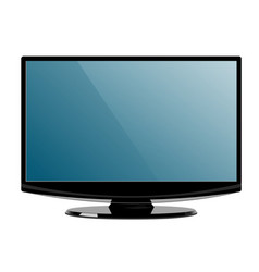 computer display with blank screen front view vector image
