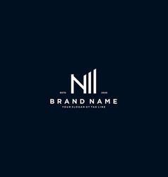 Creative letter n financial chart logo design vector