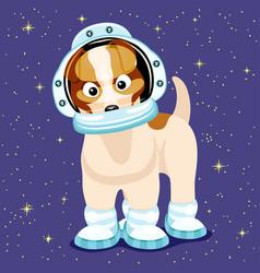 cute astronaut dog vector image