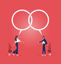 Discuss reaching an agreement concept vector