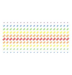 Dna spiral shape halftone spectrum array vector