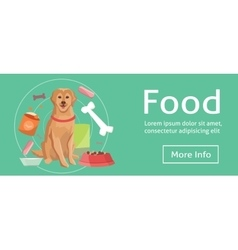 Dog food baner eps10 vector
