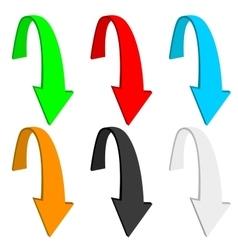 Down arrow Colored set vector image
