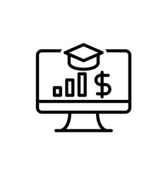 e learning business finance icon sign vector image