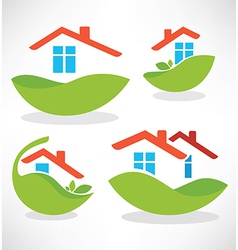 Eco homes vector