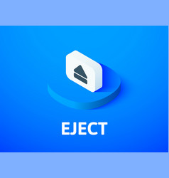 Eject isometric icon isolated on color background vector