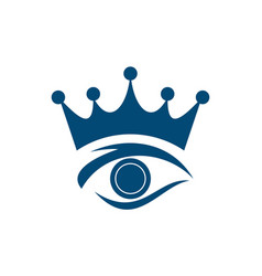 eye king abstract logo icon vector image