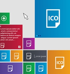 file ico icon sign buttons Modern interface vector image