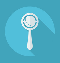 Flat modern design with shadow rattle vector