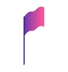 gradient flag icon isometric style vector image