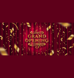 grand opening logo vector image
