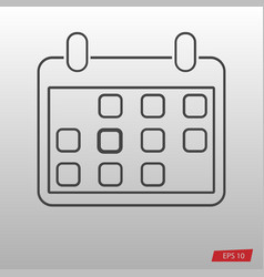 gray calendar icon isolated on background modern vector image