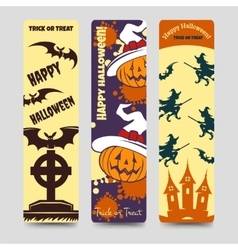 Halloween flat bookmarks vector