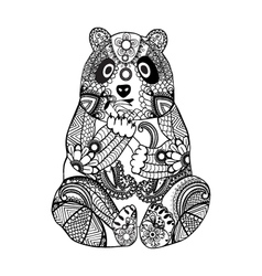 Hand drawn zentangle panda vector