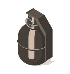 Hand grenade icon isolated on white background vector