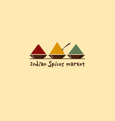 Indian spices market logo vector