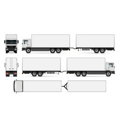 Isolated trailer truck vector