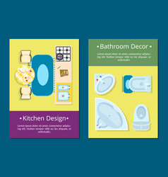 kitchen design bathroom decor vector image